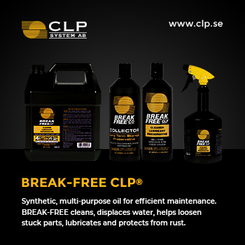 CLP System - Synthetic, multi-purpose oil for efficient maintenance. BREAK-FREE cleans, displaces water, helps loosen stuck parts, lubricates and protects from rust.